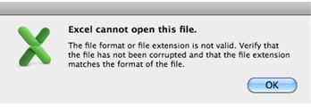 How To Fix Mac Pc excel cannot open this file error-Solved