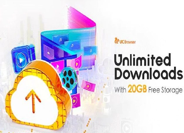 UC Browser provides cloud services through UC Drive, 20 GB Free
