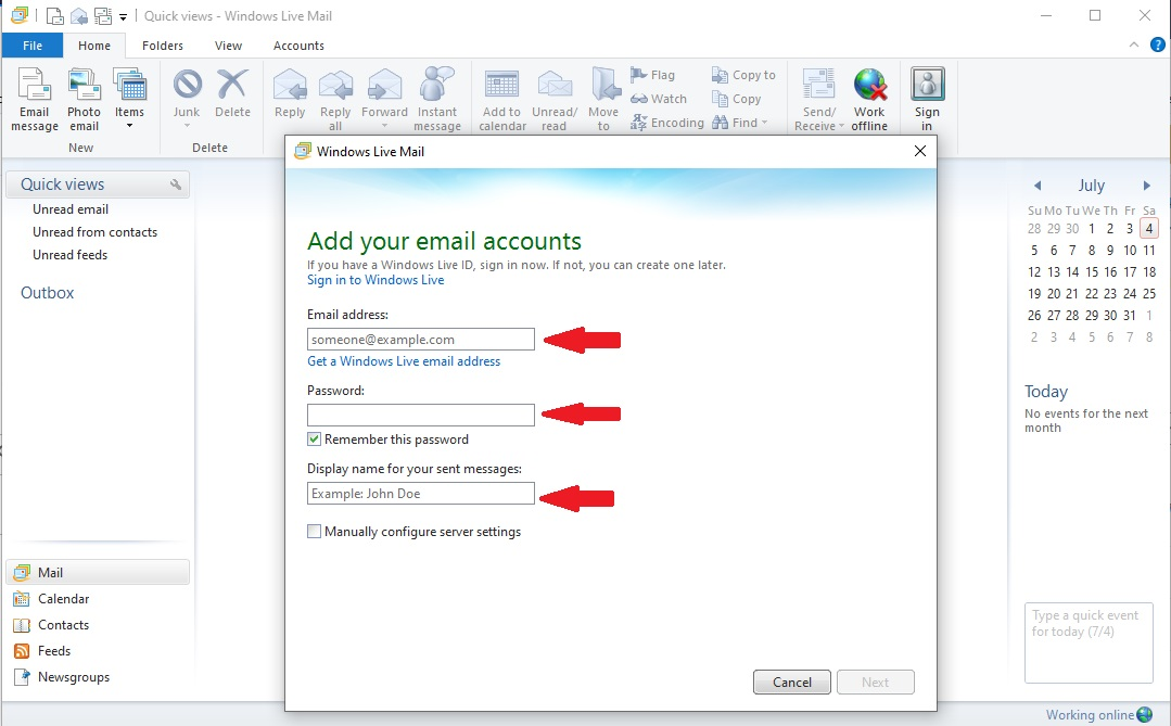 windows live mail download