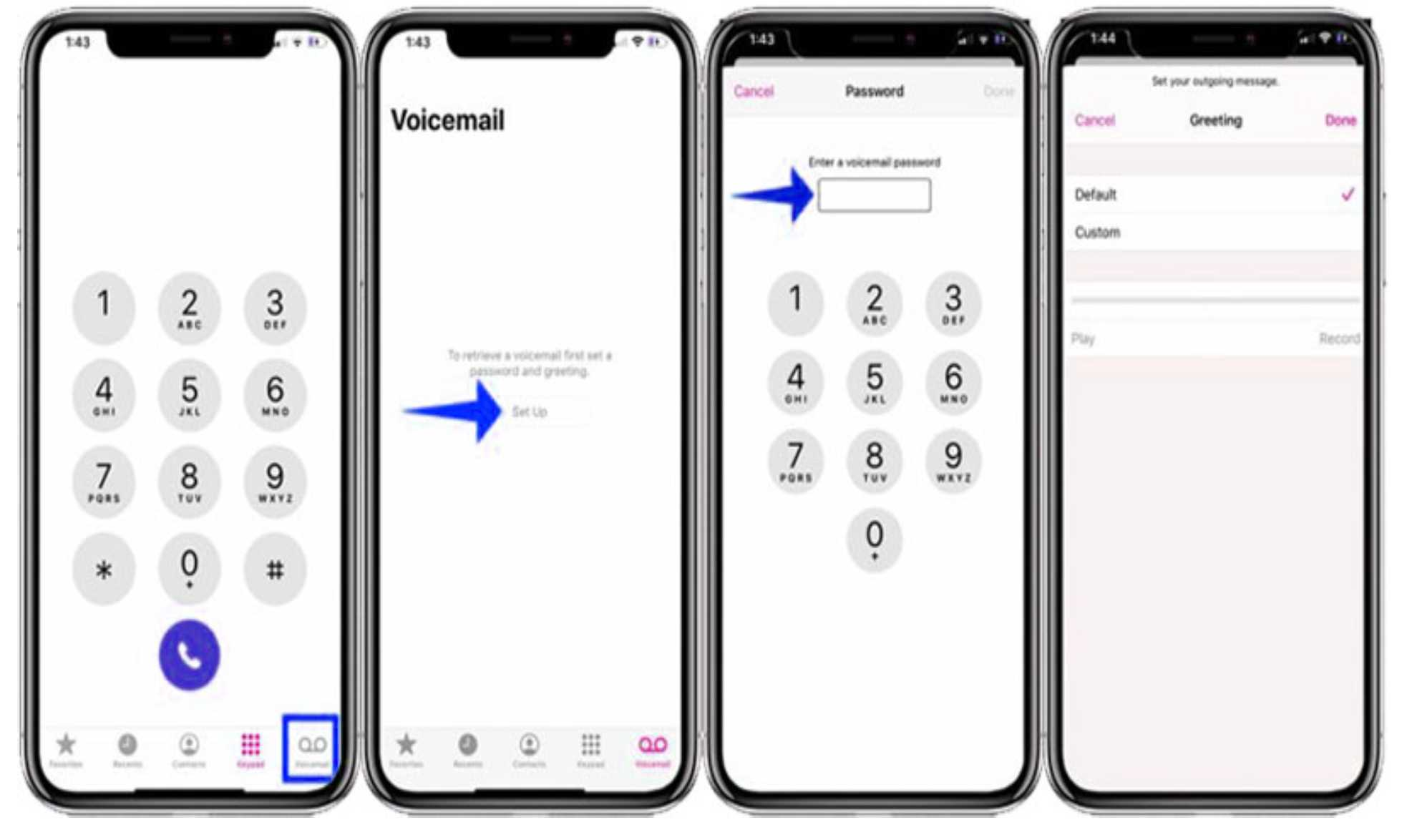 How to set up voicemail on iphone 11