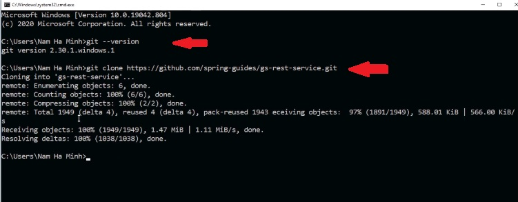 install git project from GitHub command