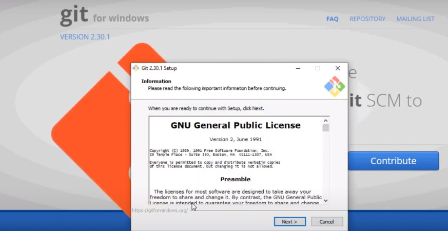 download and install windows git