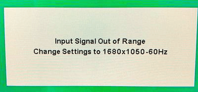 input signal out of range