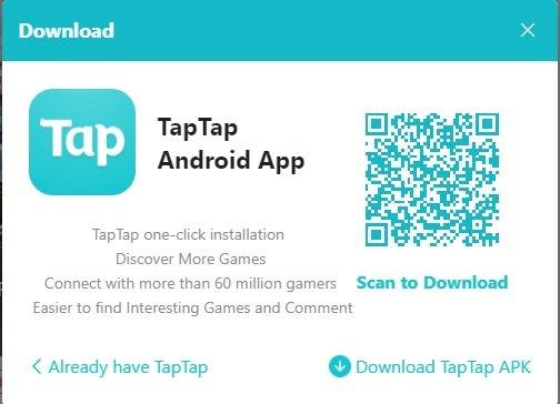tap tap pubg qrcode